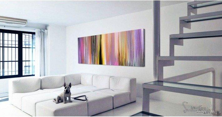 Dog sat in a modern minimal room