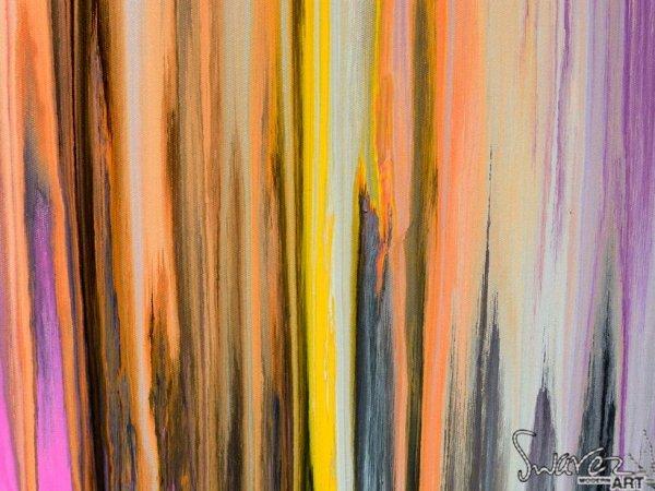 Orange and yellow paint stripes
