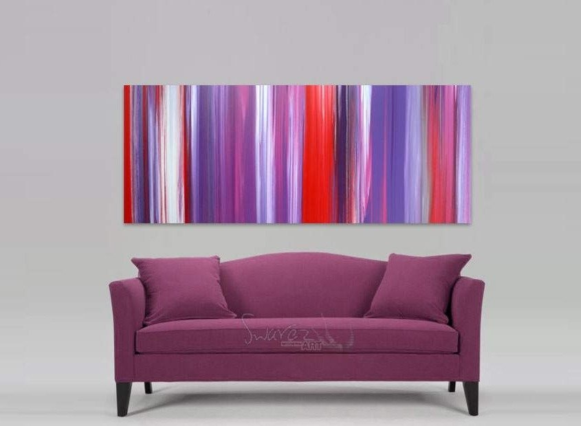 Pink and purple abstract art