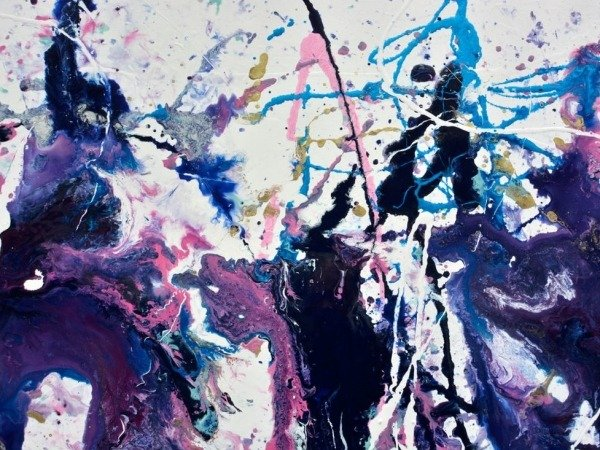 large abstract painting details