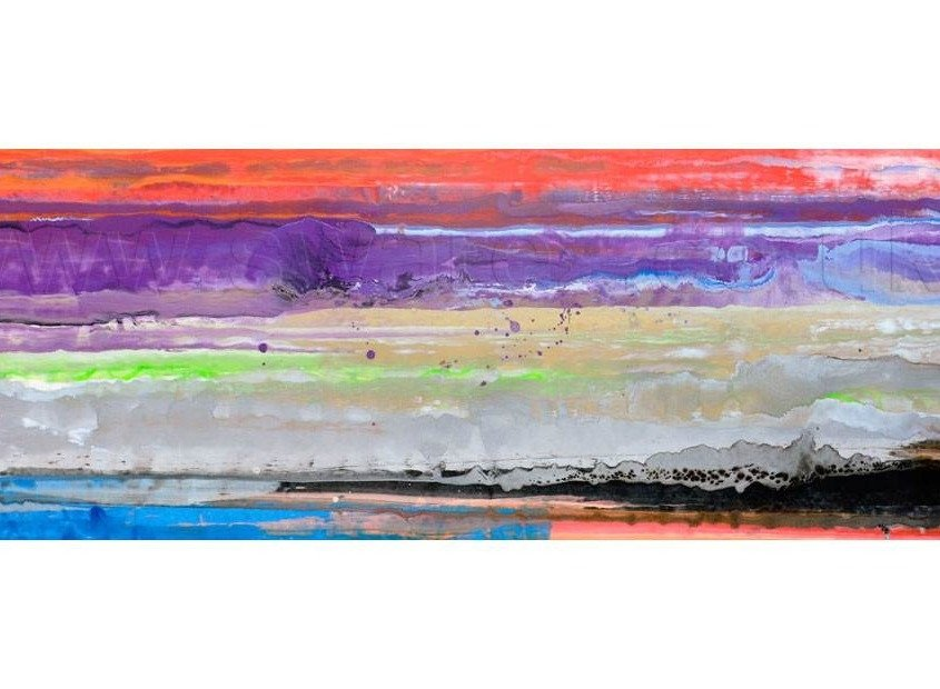 Abstract striped painting called Heavens Above