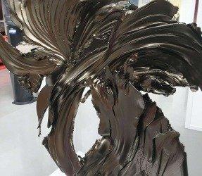 Powder coated bronze sculpture