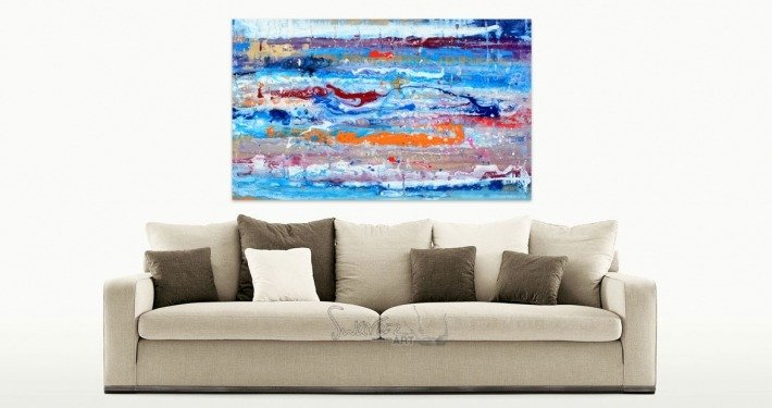 small-blue-original-painting-and-a-taupe-sofa