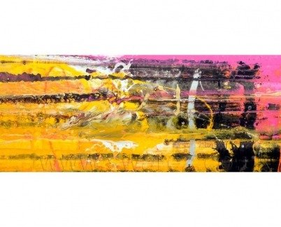 pink-and-yellow-art-called-last-train-home