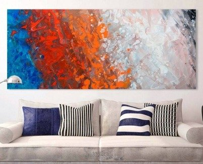 beige-sofa-and-red-and-blue-art-above