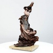 Bronze coloured sculpture