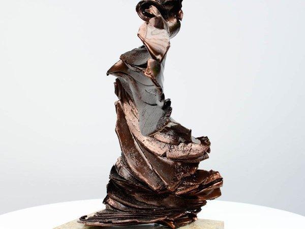 Bronze coloured sculpture
