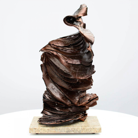 Bronze sculpture on onyx base