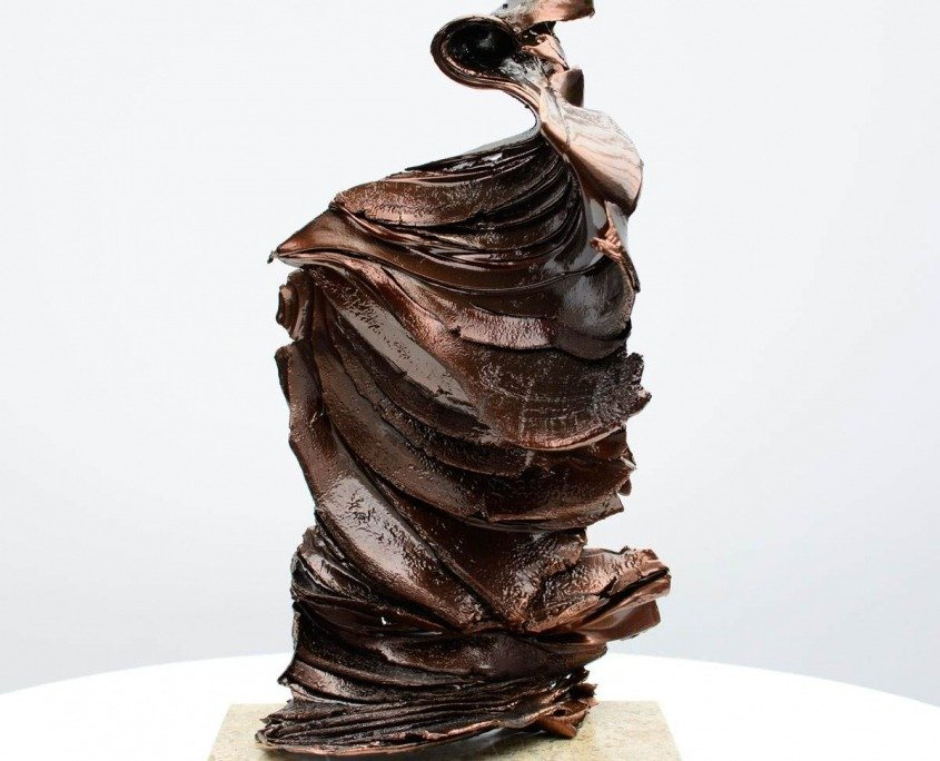 Bronze sculpture on onyx base