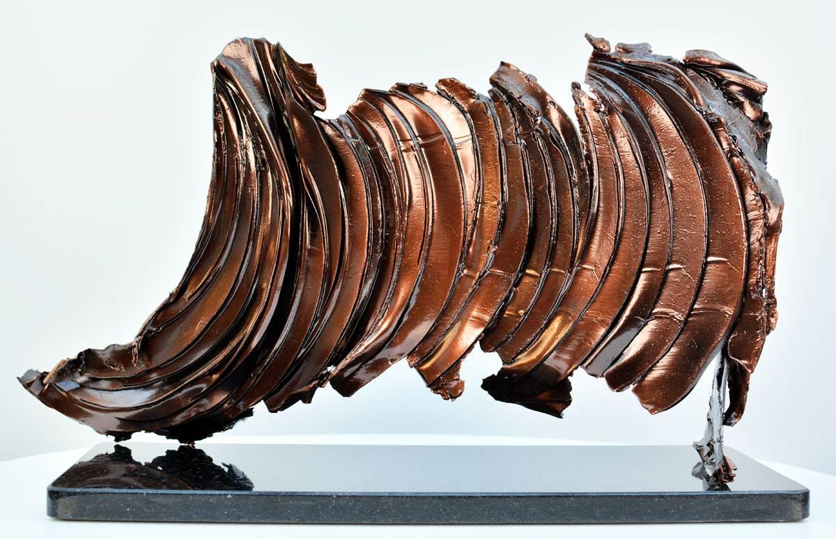Dark bronze metal scuplture
