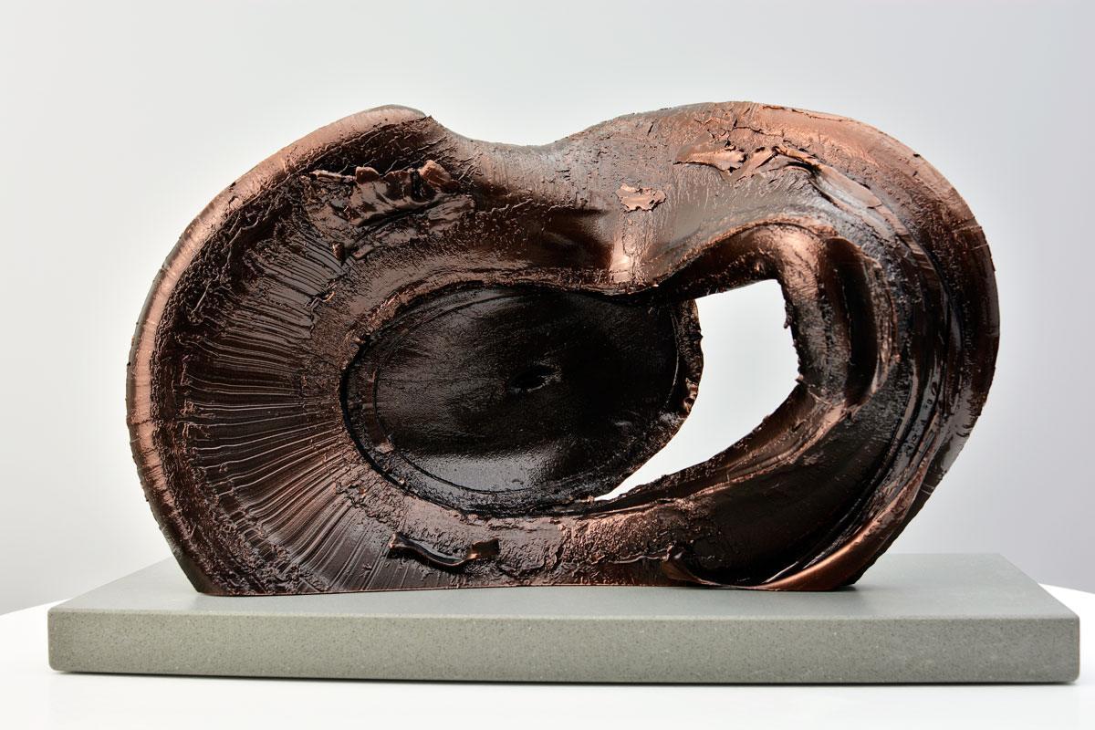 Bronze sculpture on plinth
