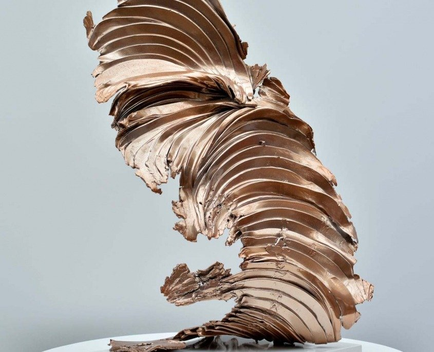 copper metal sculpture