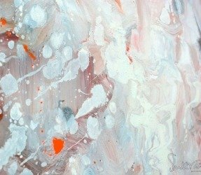 white-and-cream-blended-paints-on-canvas