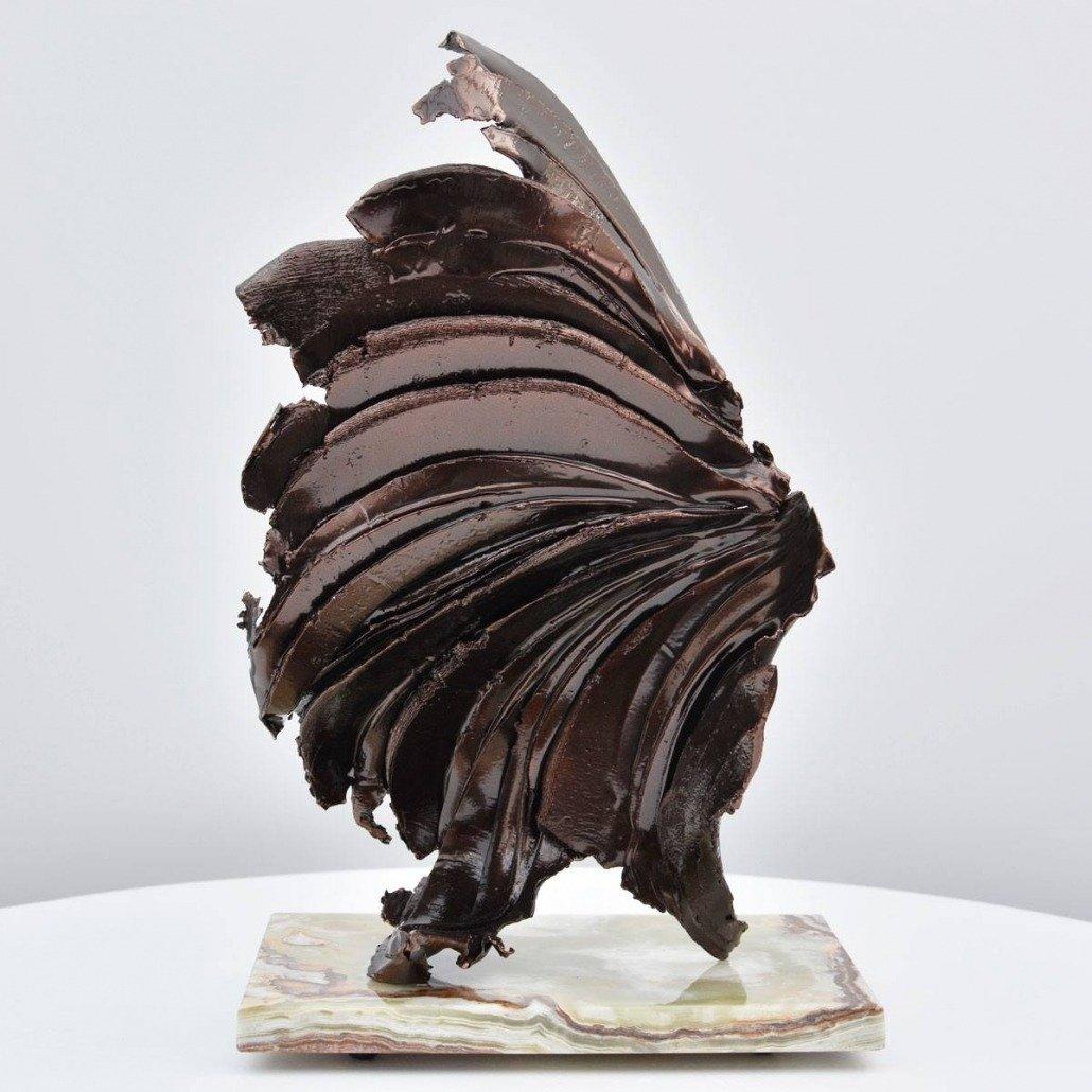dark bronze sculpture