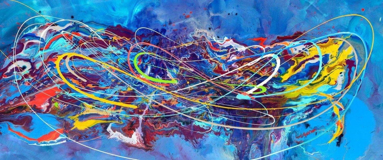 Blue modern art