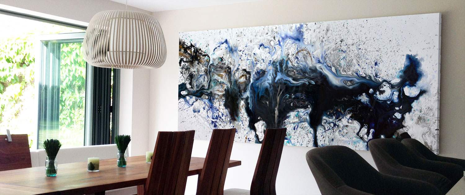 Large abstract art for sale and big modern art paintings for Dining room paintings sale