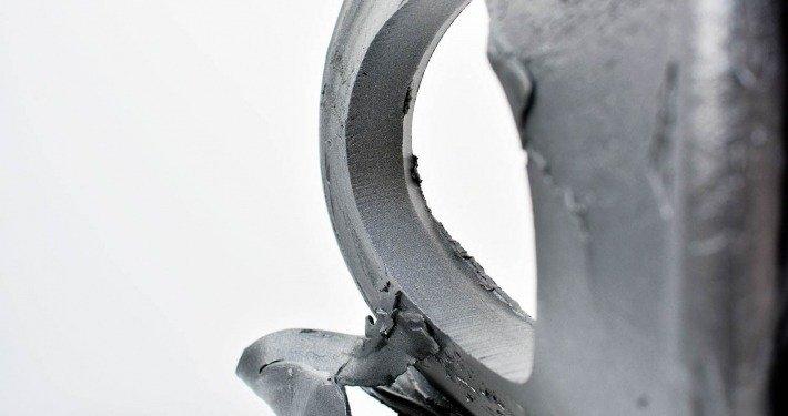 Aluminium oval sculpture (2)