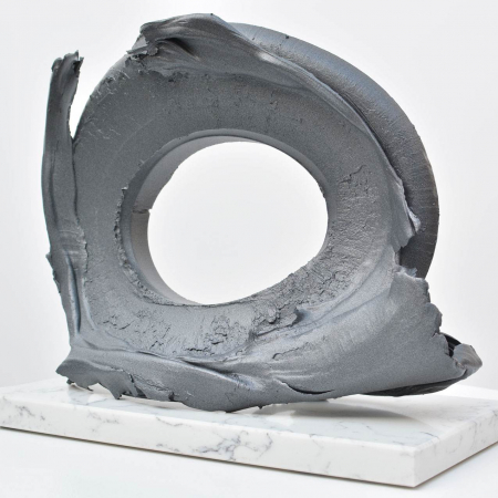Aluminium oval sculpture