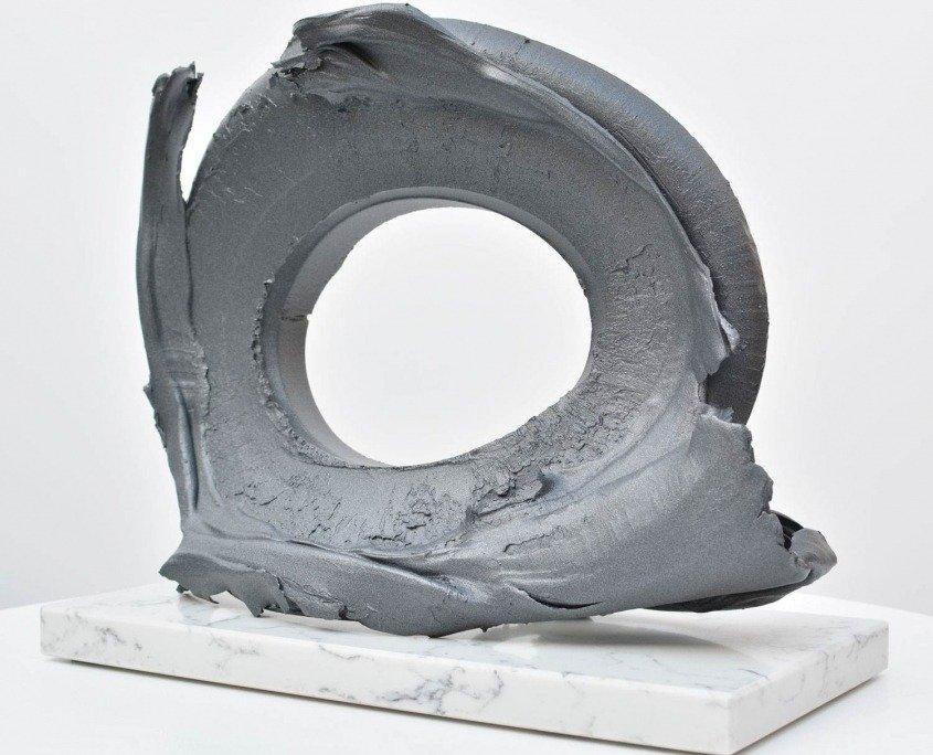 Aluminium oval sculpture