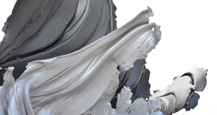 Aluminium sculpture called Hold Me In Your Arms (2)