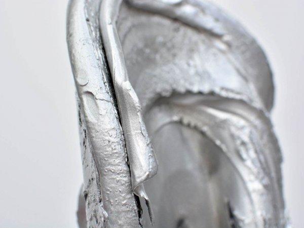 Silver coated aluminium sculpture
