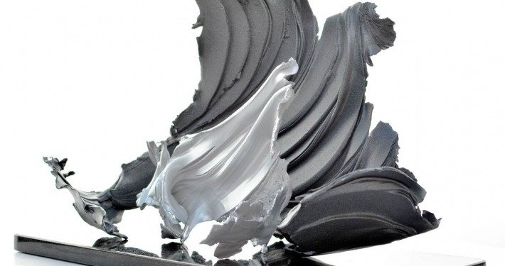 Two piece metal sculpture (3)