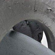 Semi-circles of aluminium sculpture