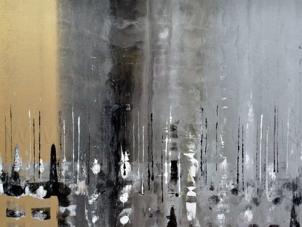 Gold and silver contemporary art called Ride the Night