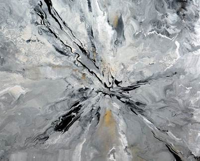 Large grey contemporary painting