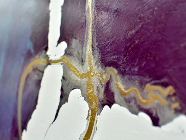 Purple and gold paint