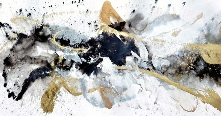 large black and gold art by swarez