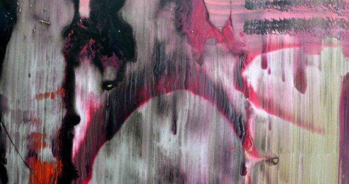 Pink and grey abstract art