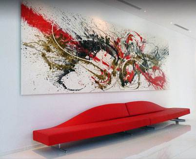 19ft red and black splash painting in Dubai