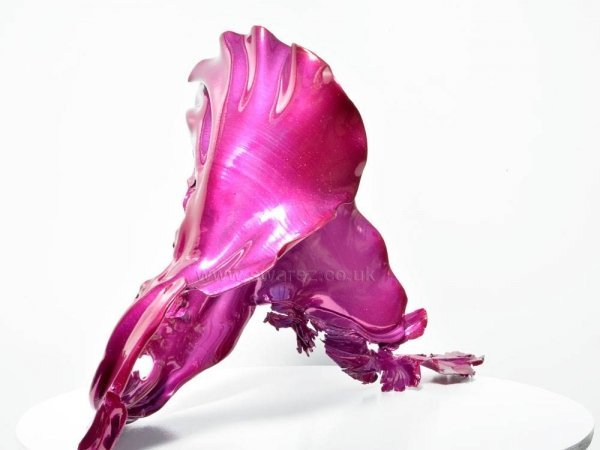 Pink metal sculpture