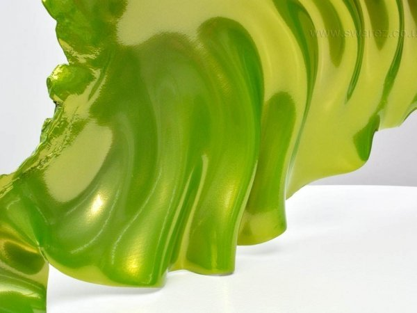 Lime green table sculpture