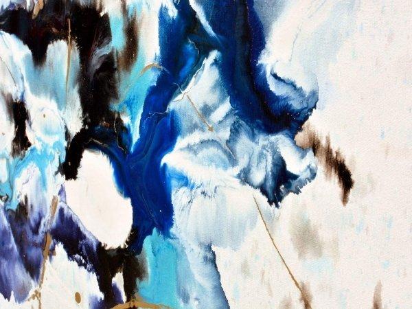 Blue and aqua paints