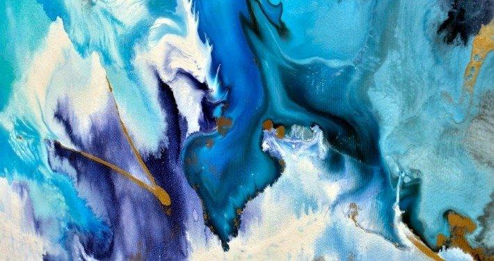 large blue art