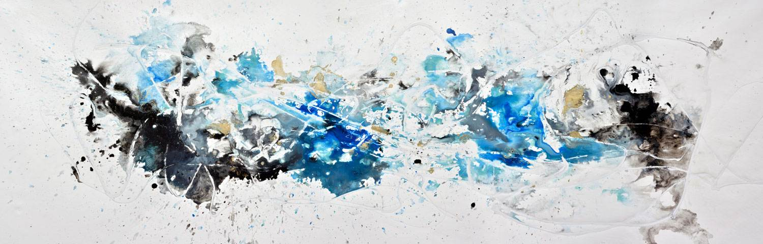 blue and white contemporary painting