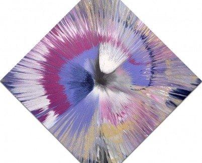 Purple Haze spin painting