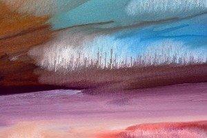 Details of spun paint