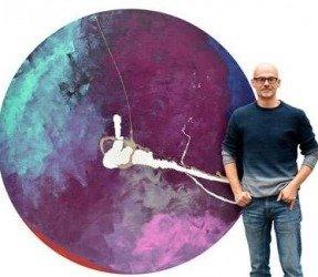 Large round painting