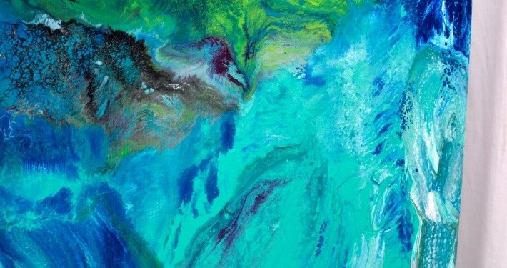 Corner of blue painting