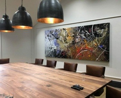 Large painting in a boardroom
