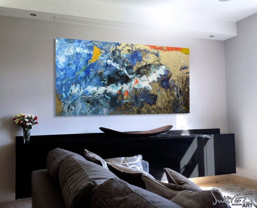 blue-and-gold-painting-in-a-living-room