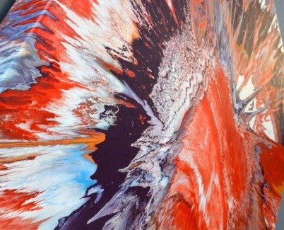 Spun paint on canvas