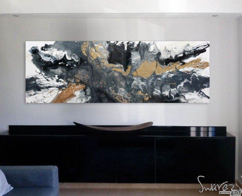 grey black painting