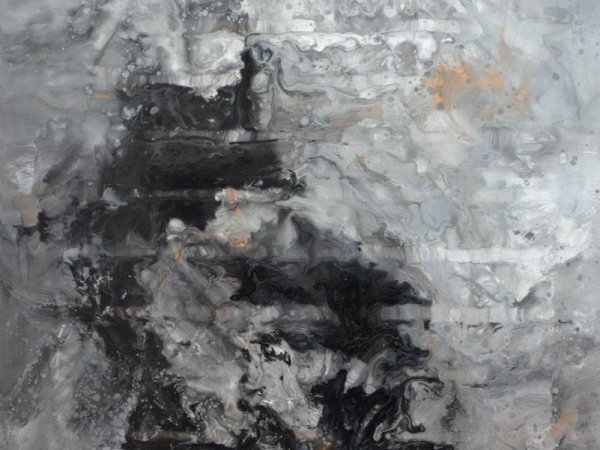 large grey and white art
