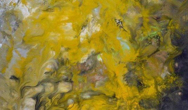 mustard yellow art