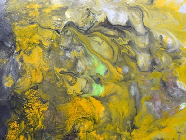 swirling yellow paints