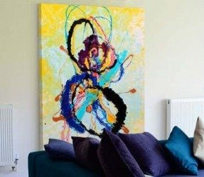 Colourful abstract art called Quantum Rainbow